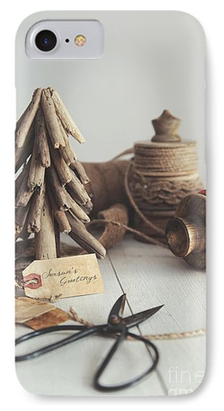 Rustic Twine And Ribbon For Wrapping Gifts IPhone Case by Sandra Cunningham