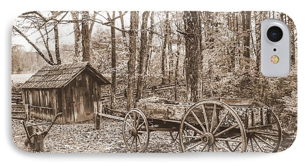 Rustic Wagon IPhone Case by Debbie Green