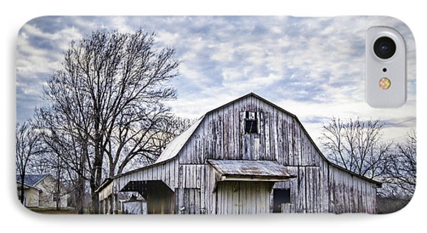 Rustic White Barn IPhone Case by Cricket Hackmann