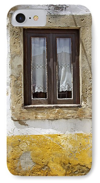 Rustic Window Of Medieval Obidos Phone Case by David Letts