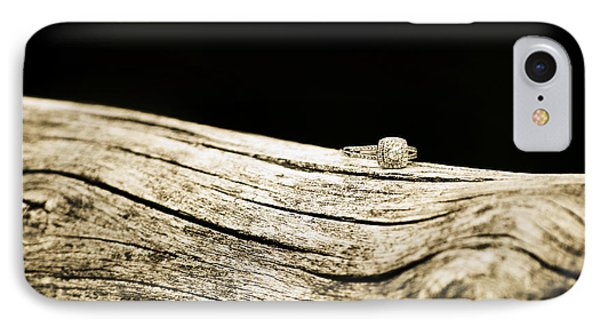 Rustic Yet Elegant Diamond Ring  IPhone Case by Chastity Hoff