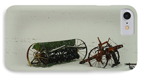 Rusting In The Snow Phone Case by Jeff Swan