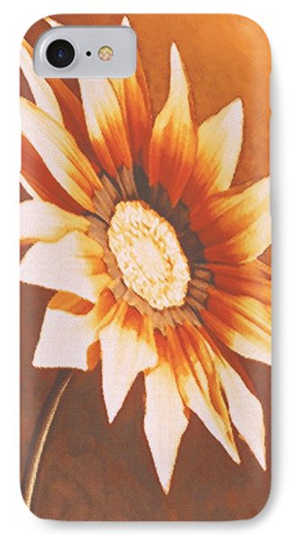 IPhone Case featuring the painting Rusty Gazania by Sophia Schmierer