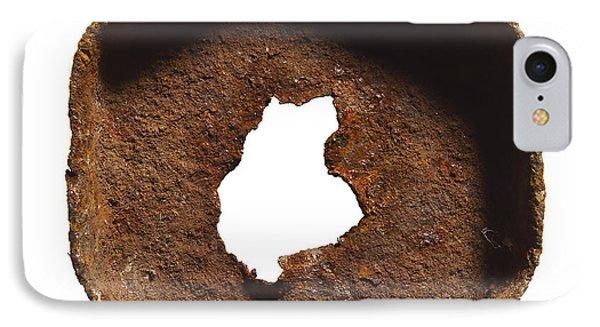 Rusty Hexagon Part IPhone Case by Tony Cordoza