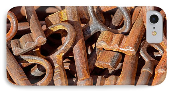 Rusty Keys Phone Case by Art Block Collections