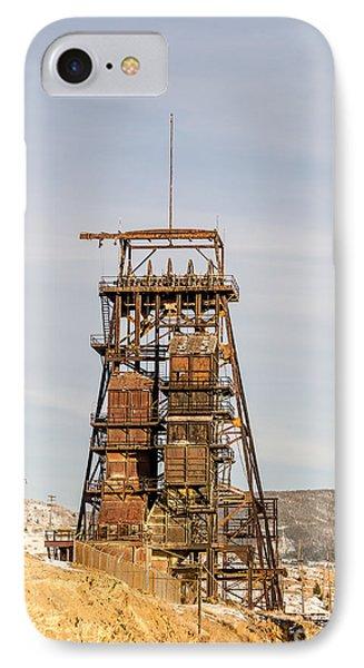 Rusty Mining Headframe Phone Case by Sue Smith