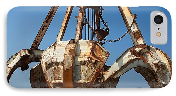 Rusty Obsolete Dredging Equipment IPhone Case