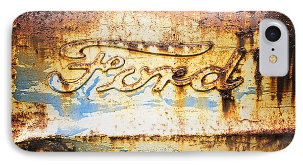 Rusty Old Ford Closeup IPhone Case by Edward Fielding