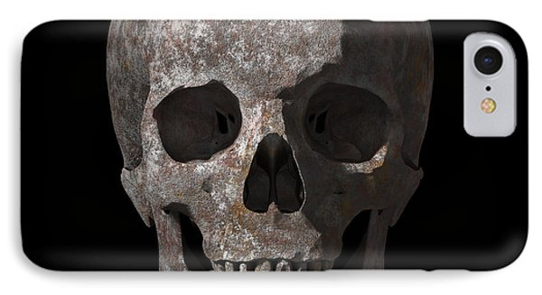 Rusty Old Skull IPhone Case