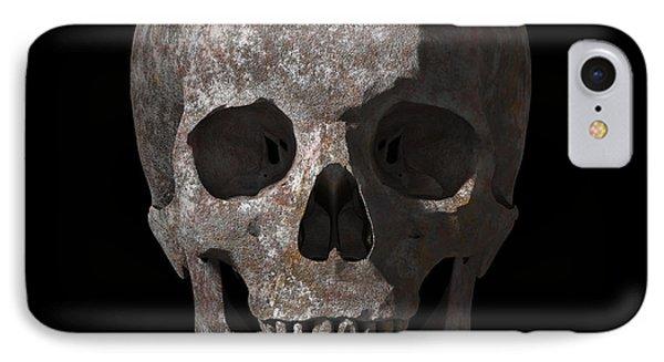 Rusty Old Skull IPhone Case by Vitaliy Gladkiy