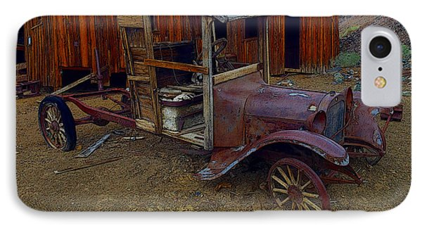 Rusty Old Vintage Car IPhone Case by R Muirhead Art