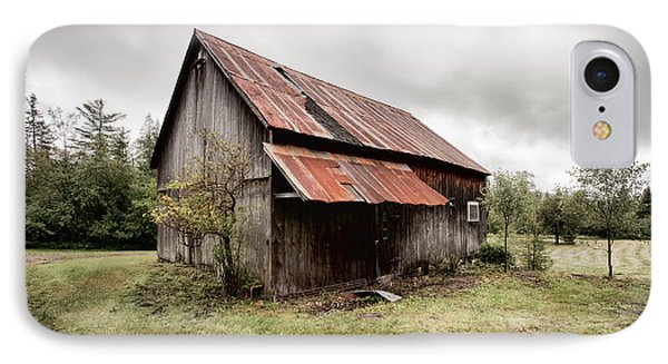 Rusty Tin Roof Barn IPhone Case by Gary Heller