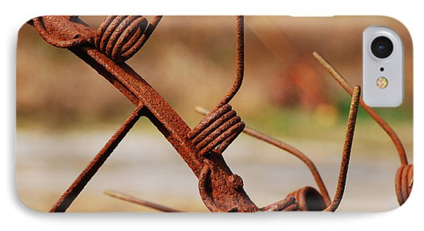 Rusty Tines Phone Case by Mary Carol Story