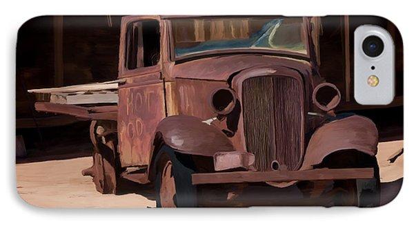 Rusty Truck 04 IPhone Case by Wally Hampton