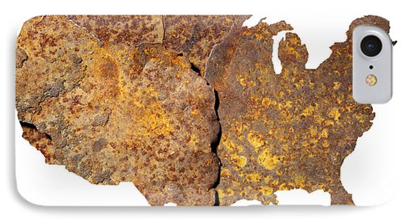 Rusty Usa Map IPhone Case