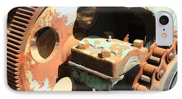 Rusty Wheel Gear Phone Case by Carol Groenen