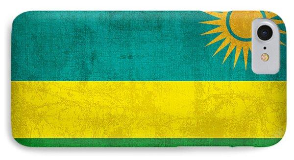 Rwanda Flag Vintage Distressed Finish IPhone Case by Design Turnpike