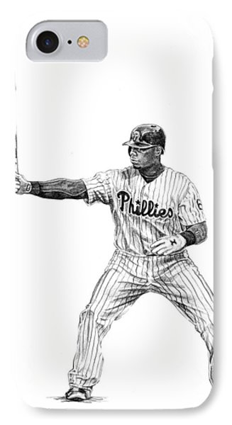 Ryan Howard IPhone Case by Joshua Sooter