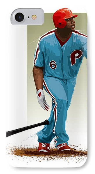Ryan Howard IPhone Case by Scott Weigner