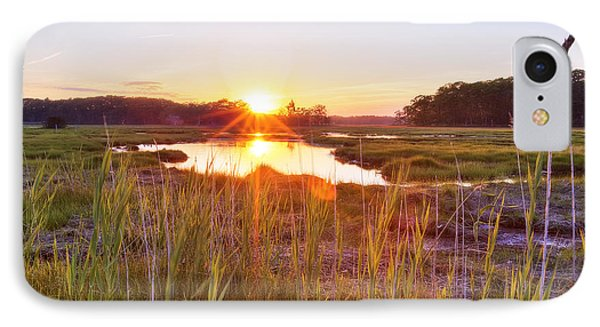 Rye Marsh Sunset Phone Case by Eric Gendron