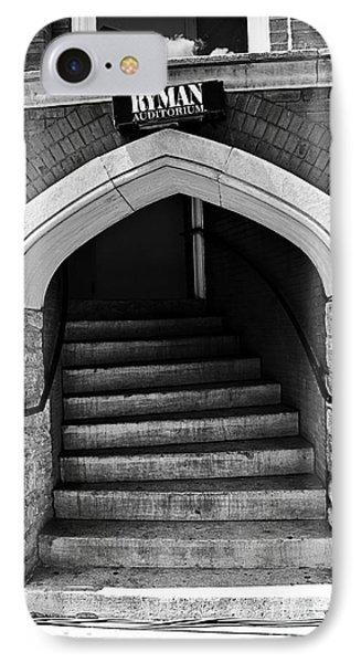 Ryman Auditorium Back Door IPhone Case by Danny Hooks