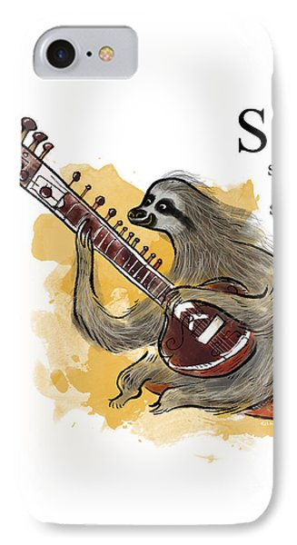 S Is For Sloth IPhone Case by Sean Hagan