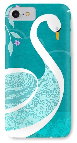 S Is For Swan IPhone Case by Valerie Drake Lesiak