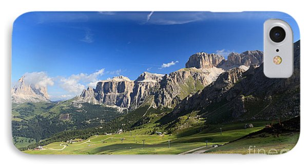 Saas Pordoi And Fassa Valley IPhone Case