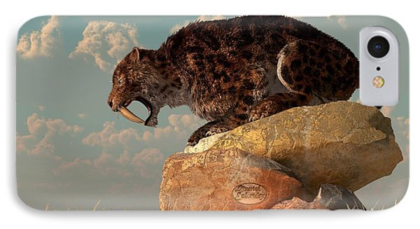 Saber-tooth On A Rock IPhone Case