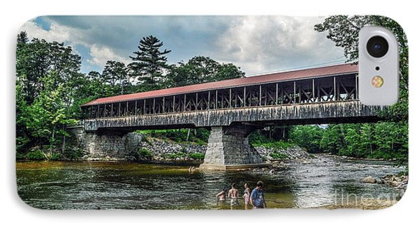 IPhone Case featuring the photograph Saco River Covered Bridge  by Debbie Green