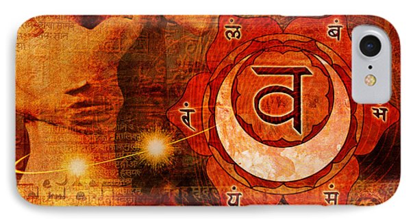 Sacral Chakra Phone Case by Mark Preston