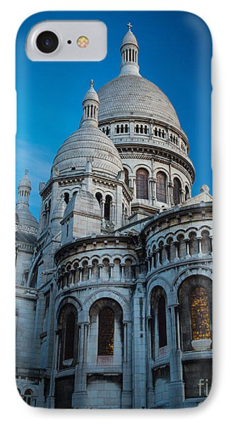 Sacre-coeur At Night Phone Case by Inge Johnsson