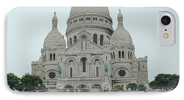 Sacre Coeur Basilica IPhone Case by Kay Gilley