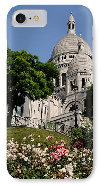 Sacre Coeur Flowers IPhone Case by Jeremy Voisey