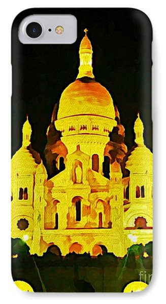 Sacre-coure Cathedral Paris  Phone Case by John Malone