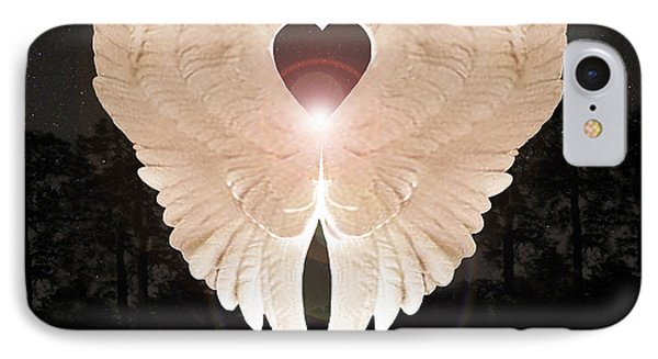 IPhone Case featuring the digital art Sacred Angel by Eric Kempson