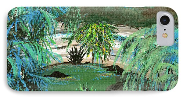 IPhone Case featuring the painting Sacred Cenote At Chichen Itza by Alys Caviness-Gober
