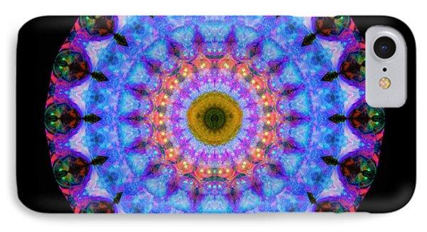 Sacred Crown - Mandala Art By Sharon Cummings IPhone Case by Sharon Cummings