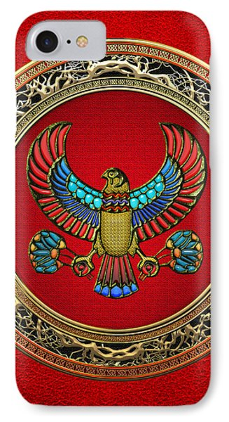 Sacred Egyptian Falcon IPhone Case by Serge Averbukh