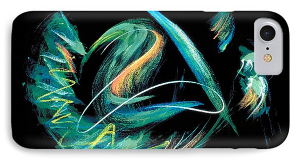IPhone Case featuring the painting Sacred Feather Dance by Asha Carolyn Young
