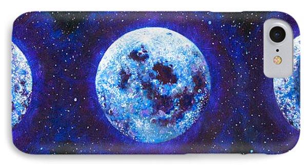 Sacred Feminine Blue Moon IPhone Case by Shelley Irish
