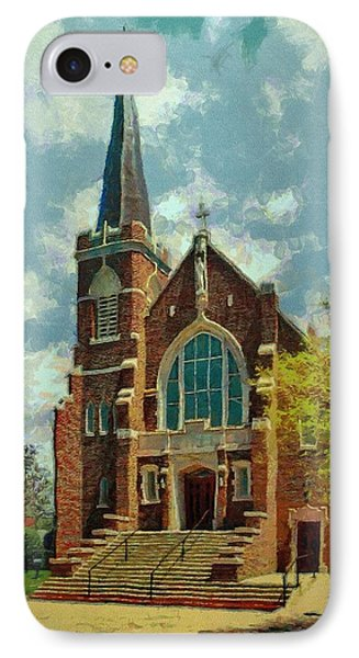 Sacred Heart Phone Case by Jeff Kolker