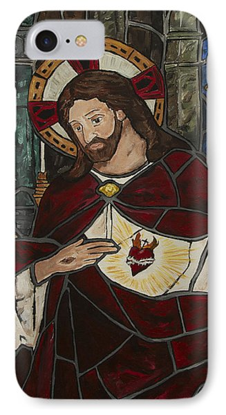 Sacred Heart Of Jesus Phone Case by Greg Willits