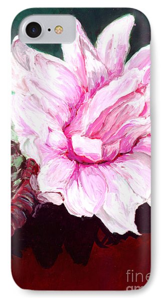 Sacred Pink Lotus  IPhone Case by Mukta Gupta