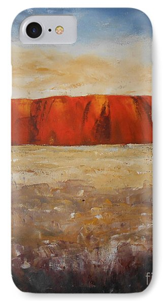 IPhone Case featuring the painting Sacred Rock by Jane  See