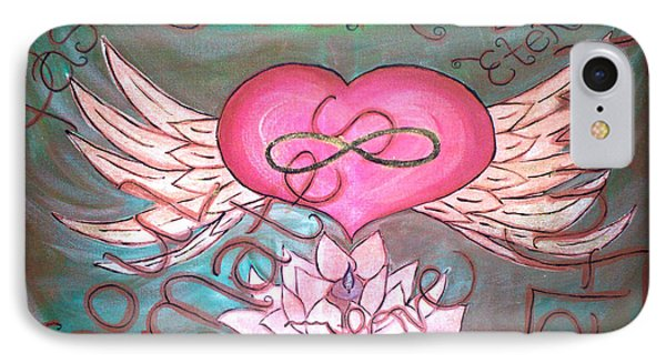Sacred Soulmates And Twin Flames IPhone Case by Absinthe Art By Michelle LeAnn Scott