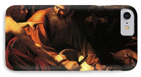 Sacrifice Of Issac Phone Case by Caravaggio