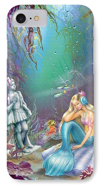 Sad Little Mermaid Phone Case by Zorina Baldescu
