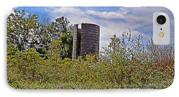 IPhone Case featuring the photograph Sad Silo by Linda Brown