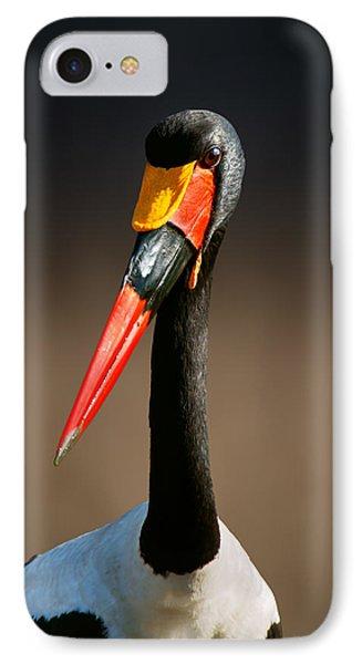 Saddle-billed Stork Portrait IPhone Case